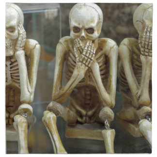 Hear, Speak, See No Evil Skeletons Napkin
