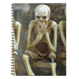 Hear, Speak, See No Evil Skeletons Spiral Note Book