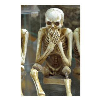 Hear, Speak, See No Evil Skeletons Stationery