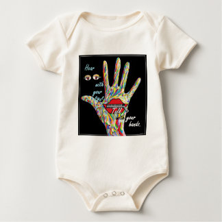 Hear with Your Eyes Baby Bodysuit