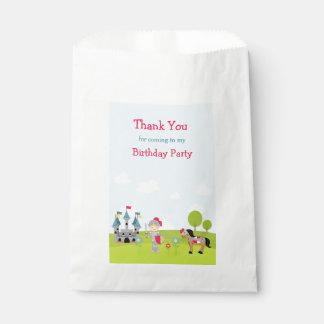 Hear Ye Blonde Cute Knight Birthday Party Favour Bag