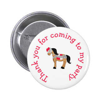 Hear Ye Blonde Cute Knight 'Thank you for coming' 2 Inch Round Button