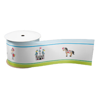 Hear Ye Brunette Cute Knight Birthday Party Satin Ribbon