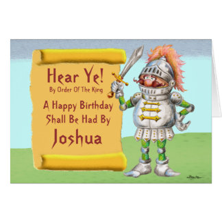 Hear Ye!  Happy Birthday Card