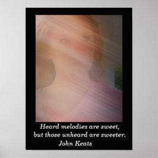 Heard melodies - John Keats - art print