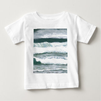 Hearing the Waves Crash - CricketDiane Ocean Art Baby T-Shirt
