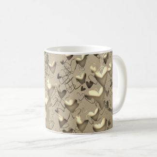 Hears Emboss Golden Elegant Glamorous Chic Coffee Mug