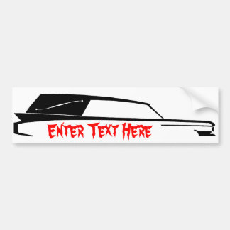 HEARSE bumper sticker