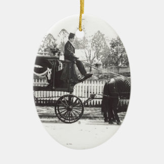 Hearse Ceramic Ornament