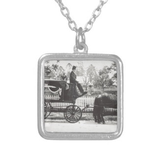 Hearse Silver Plated Necklace