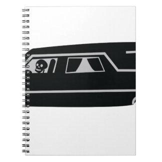 Hearse Spiral Notebooks
