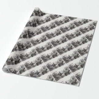 Hearse Wrapping Paper
