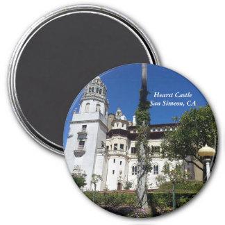 Hearst Castle in San Simeon, CA 3 Inch Round Magnet