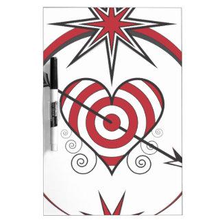 heart112 dry erase white board