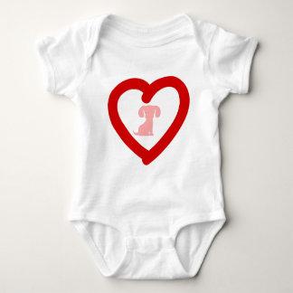 heart11 baby bodysuit
