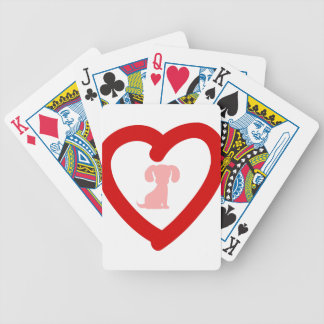 heart11 bicycle playing cards