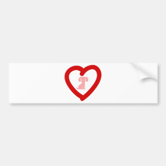 heart11 bumper sticker