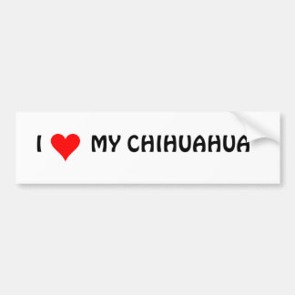 HEART1, I        MY CHIHUAHUA BUMPER STICKER