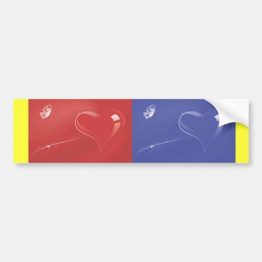 Heart-180.ai Bumper Stickers