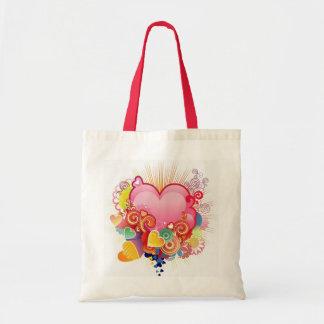 Heart abstract budget tote bag