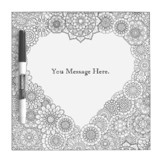 Heart Adult Coloring Dry Erase Board