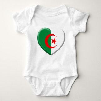 Heart Algérie flag coils Baby Bodysuit