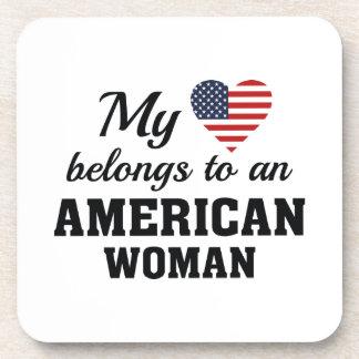 Heart American Woman Coaster