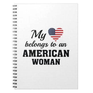 Heart American Woman Notebook