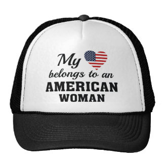 Heart American Woman Trucker Hat