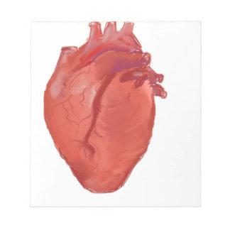 Heart Anatomy design Notepad