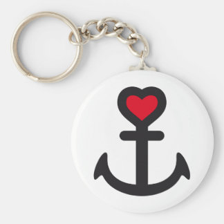 heart anchor keychain