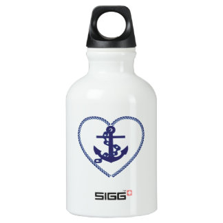 Heart and Anchor Water Bottle