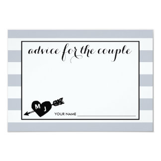 Heart and Arrow Monogram | Advice for the Couple Card