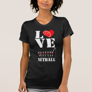 Heart and Ball Design Love Netball T-Shirt