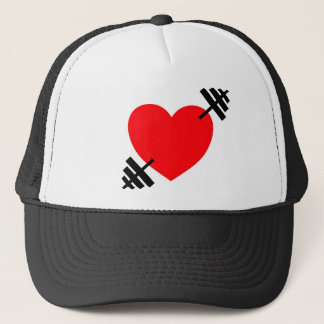 Heart and Barbell Trucker Hat