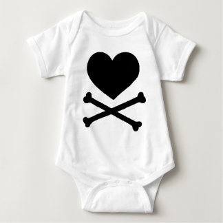 Heart and Cross Bones Baby Bodysuit