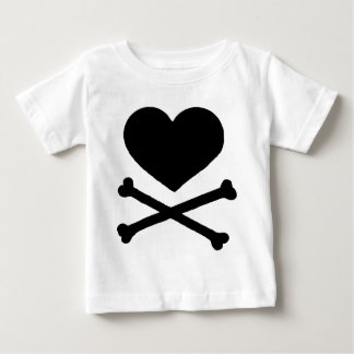 Heart and Cross Bones Baby T-Shirt