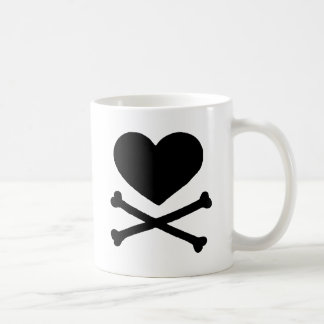 Heart and Cross Bones Classic White Coffee Mug