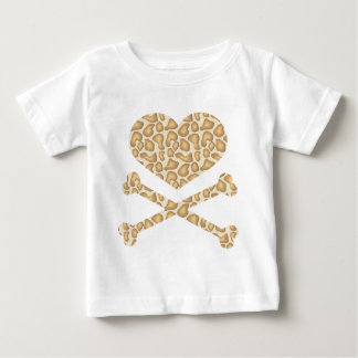 heart and crossbones giraffe light baby T-Shirt