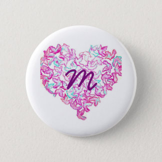 Heart and Dove Button