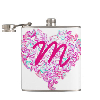 Heart and Dove Flask