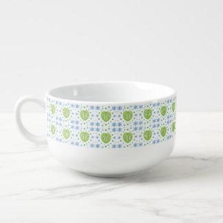 Heart and Flower Medley Soup Mug