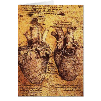 Heart And Its Blood Vessels Parchment Card