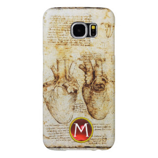 Heart And Its Blood Vessels Parchment Gem Monogram Samsung Galaxy S6 Case