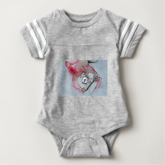 Heart And Key Baby Bodysuit