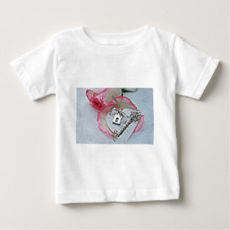 Heart And Key Baby T-Shirt