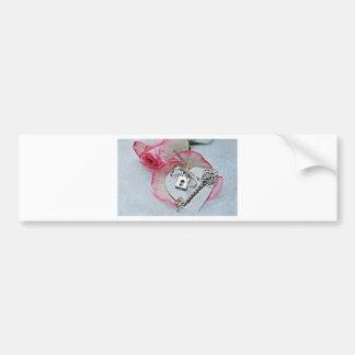 Heart And Key Bumper Sticker