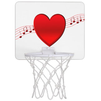 Heart and Music Mini Basketball Hoop