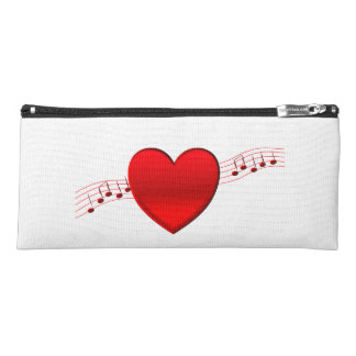 Heart and Music Pencil Case
