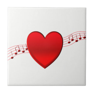 Heart and Music Tile